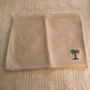 6 Almond Color Place Mats w/Palm Tree